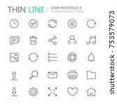collection of user interface... | Shutterstock .eps vector #753579073