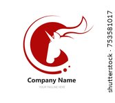 logo with a unicorn for your... | Shutterstock .eps vector #753581017
