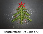 christmas background with... | Shutterstock . vector #753585577