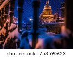 snowfall in st. petersburg.... | Shutterstock . vector #753590623