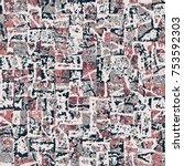 abstract broken graphic motif.... | Shutterstock .eps vector #753592303