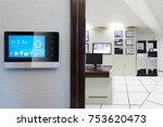 smart screen with smart home... | Shutterstock . vector #753620473