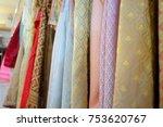 traditional thai silk cloth | Shutterstock . vector #753620767