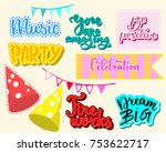 set of vector party elements.... | Shutterstock .eps vector #753622717