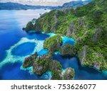palawan  philippines  aerial... | Shutterstock . vector #753626077