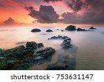 beautiful seascape sunrise view ...   Shutterstock . vector #753631147