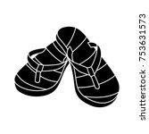 slipper isolated vector icon | Shutterstock .eps vector #753631573