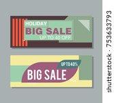 big sale modern banner in the... | Shutterstock .eps vector #753633793