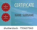 blank certified border template ... | Shutterstock .eps vector #753637363