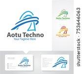 auto tech logo   Shutterstock .eps vector #753646063
