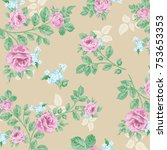 floral pattern in vector | Shutterstock .eps vector #753653353