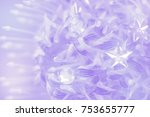 flower on soft pastel color in... | Shutterstock . vector #753655777