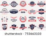 vintage retro vector logo for... | Shutterstock .eps vector #753663103