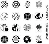 globe icon set | Shutterstock .eps vector #753669643