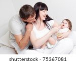 happy family  mother and father ... | Shutterstock . vector #75367081