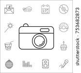 camera icon. set of party icons....