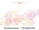 structure molecule and... | Shutterstock .eps vector #753683143