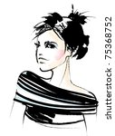 vector girl | Shutterstock .eps vector #75368752