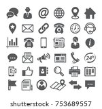 contact icons on white | Shutterstock .eps vector #753689557
