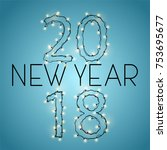 inscription 2018 from the... | Shutterstock .eps vector #753695677