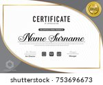certificate template luxury ...   Shutterstock .eps vector #753696673