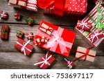 merry christmas. decoration for ... | Shutterstock . vector #753697117