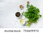 fresh parsley and various...   Shutterstock . vector #753699973