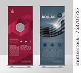 business roll up design... | Shutterstock .eps vector #753707737