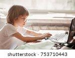 portrait of young schoolboy in...   Shutterstock . vector #753710443