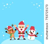 happy christmas companions... | Shutterstock .eps vector #753725173