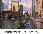 chicago skyline. chicago... | Shutterstock . vector #753725293