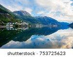 odda is a town in odda... | Shutterstock . vector #753725623