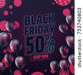 black friday sale banner by... | Shutterstock .eps vector #753740803