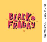 black friday sale banner | Shutterstock .eps vector #753741223