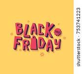 black friday sale banner   Shutterstock .eps vector #753741223