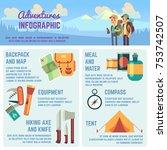 outdoors adventure vector... | Shutterstock .eps vector #753742507