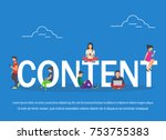content illustration of young... | Shutterstock .eps vector #753755383