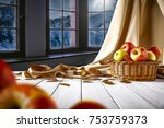 wooden table of free space for... | Shutterstock . vector #753759373