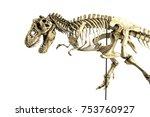 skeleton famous dinosaurs of... | Shutterstock . vector #753760927