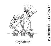 Confectioner At Work ...