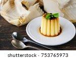 homemade creme caramel dessert... | Shutterstock . vector #753765973