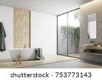 modern bathroom corner with... | Shutterstock . vector #753773143