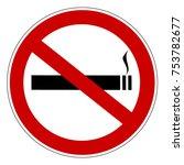no smoking prohibiting sign | Shutterstock .eps vector #753782677