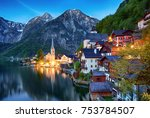 beautiful summer alpine... | Shutterstock . vector #753784507