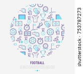 football concept in circle with ... | Shutterstock .eps vector #753787273
