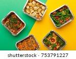 healthy meals delivery.... | Shutterstock . vector #753791227