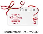 christmas coupon card on the...   Shutterstock .eps vector #753792037