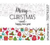 merry christmas holidays... | Shutterstock .eps vector #753792157