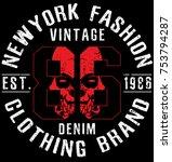 newyork fashion tee typography... | Shutterstock .eps vector #753794287