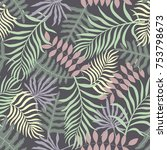 tropical background with palm... | Shutterstock .eps vector #753798673